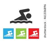 swimming man icon. swim sign...