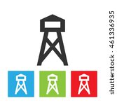 tower icon. observation tower... | Shutterstock . vector #461336935