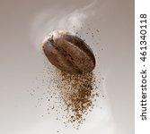 ground coffee falling from the... | Shutterstock . vector #461340118
