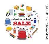 back to school round sale... | Shutterstock .eps vector #461343448