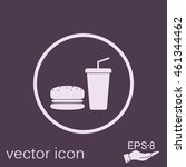 burger and paper cup with a... | Shutterstock .eps vector #461344462