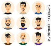 people avatar icons | Shutterstock .eps vector #461351242