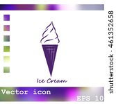 ice cream vector icon | Shutterstock .eps vector #461352658