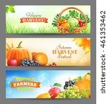 horizontal banners for harvest...   Shutterstock .eps vector #461353462