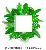 tropical background frame with... | Shutterstock .eps vector #461354122