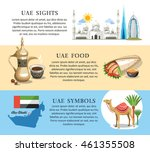 united arab emirates text info... | Shutterstock .eps vector #461355508