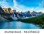 moraine lake is a glacially fed ... | Shutterstock . vector #461356612