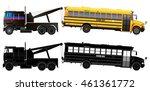 tow truck transports broke down ... | Shutterstock .eps vector #461361772