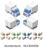 car icon set. isometric 3d... | Shutterstock .eps vector #461364406
