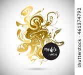 gold marble background banner.... | Shutterstock .eps vector #461374792