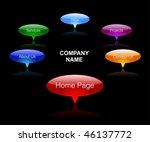 web menu | Shutterstock .eps vector #46137772