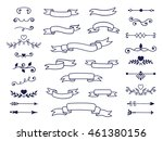 big set of decorative elements... | Shutterstock .eps vector #461380156
