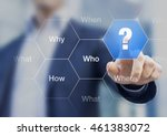 what  when  where  who  how ... | Shutterstock . vector #461383072