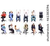 united company achievement idea  | Shutterstock . vector #461383096