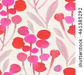 seamless watercolor botanical...   Shutterstock . vector #461385292
