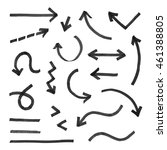 hand drawn arrow set  vector... | Shutterstock .eps vector #461388805