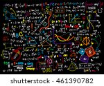 math linear mathematics... | Shutterstock .eps vector #461390782