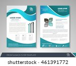 front and back page brochure... | Shutterstock .eps vector #461391772