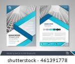 front and back page brochure... | Shutterstock .eps vector #461391778