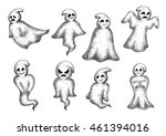 halloween funny cartoon ghosts...