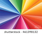 flat colorful rainbow rays... | Shutterstock .eps vector #461398132