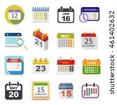 calendar icon vector isolated ... | Shutterstock .eps vector #461402632