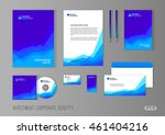 corporate identity template for ... | Shutterstock .eps vector #461404216