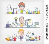 scientists   Shutterstock .eps vector #461405326