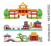 chinese building | Shutterstock .eps vector #461405332