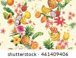 hawaiian seamless pattern with... | Shutterstock .eps vector #461409406