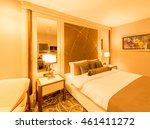 modern hotel room with big bed | Shutterstock . vector #461411272