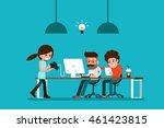 co working.   Shutterstock .eps vector #461423815