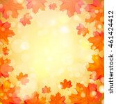 autumn design with orange maple ... | Shutterstock .eps vector #461424412