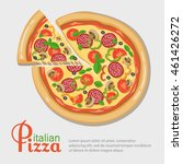 italian pizza banner with place ... | Shutterstock .eps vector #461426272