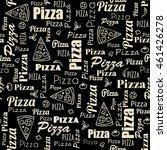 pizza seamless pattern eps8 | Shutterstock .eps vector #461426278