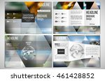 vector set of tri fold brochure ... | Shutterstock .eps vector #461428852
