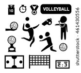 isolated volleyball icon... | Shutterstock .eps vector #461430556