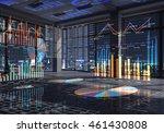 night office interior . mixed... | Shutterstock . vector #461430808