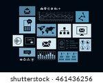 social media marketing . mixed... | Shutterstock . vector #461436256