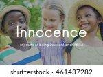innocence naive innocent kids...   Shutterstock . vector #461437282