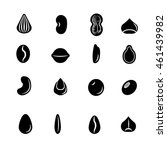 seed icon set | Shutterstock .eps vector #461439982