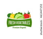 vegetables logo template | Shutterstock .eps vector #461447152