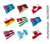 vector set of world flags | Shutterstock .eps vector #46145059