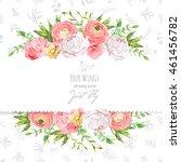 bright ranunculus  peony  rose  ... | Shutterstock .eps vector #461456782