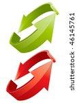 3d arrows | Shutterstock .eps vector #46145761