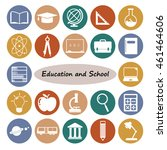 education icons set.vector... | Shutterstock .eps vector #461464606