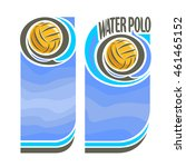 vector abstract logo for water... | Shutterstock .eps vector #461465152
