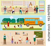 set of isolated illustrations... | Shutterstock .eps vector #461469886