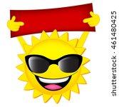 happy sun wearing sunglasses... | Shutterstock .eps vector #461480425