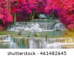 waterfall in deep rain forest... | Shutterstock . vector #461482645